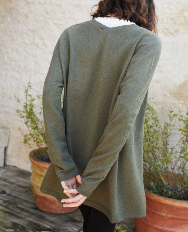 Long cardigan Cheng olive Ipatique