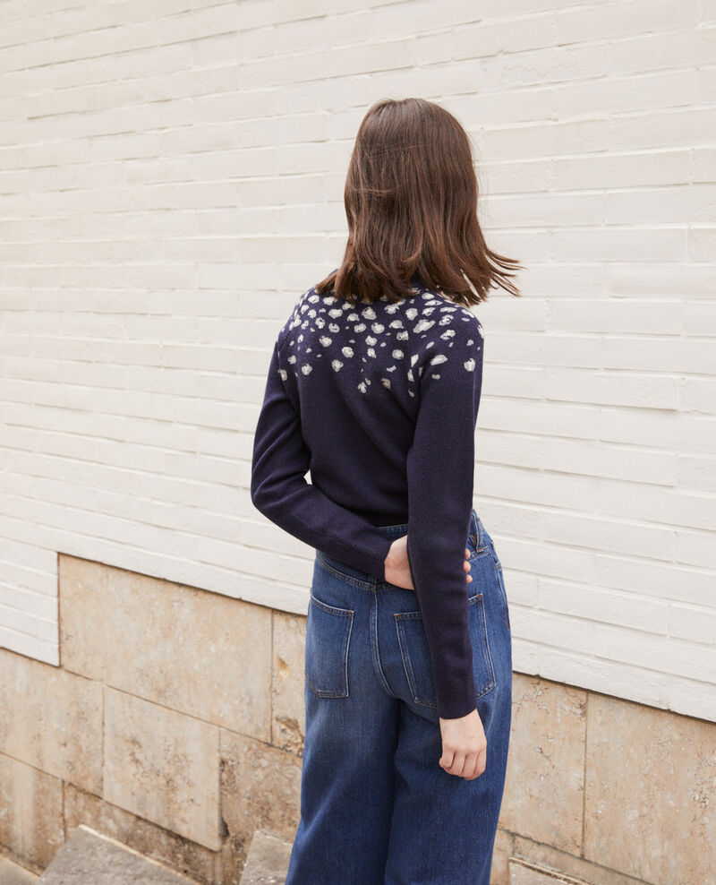 Printed jumper Blue Gleopard