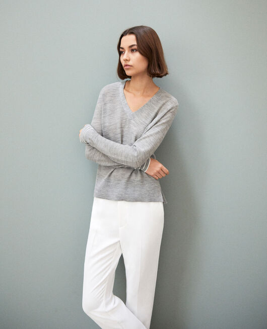 Wool jumper LIGHT GREY