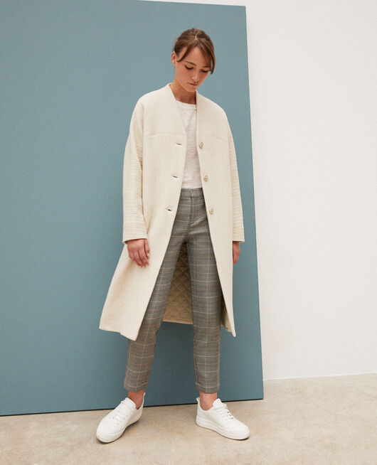 Loose coat OFF WHITE