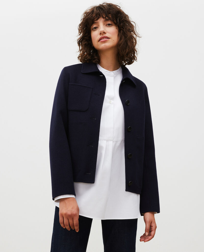 Double-sided wool jacket Night sky Mauguio