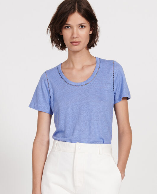 Linen jersey T-shirt PERSIAN JEWEL
