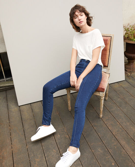 7/8 skinny cropped jeans Blue
