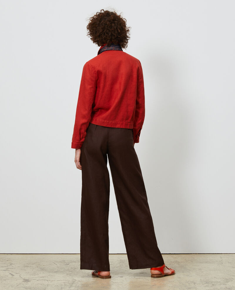 Linen high-waisted trousers Mole Neronde