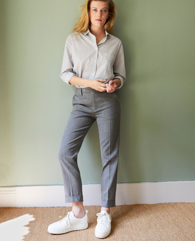 Carrot trousers Middle grey Jokyo