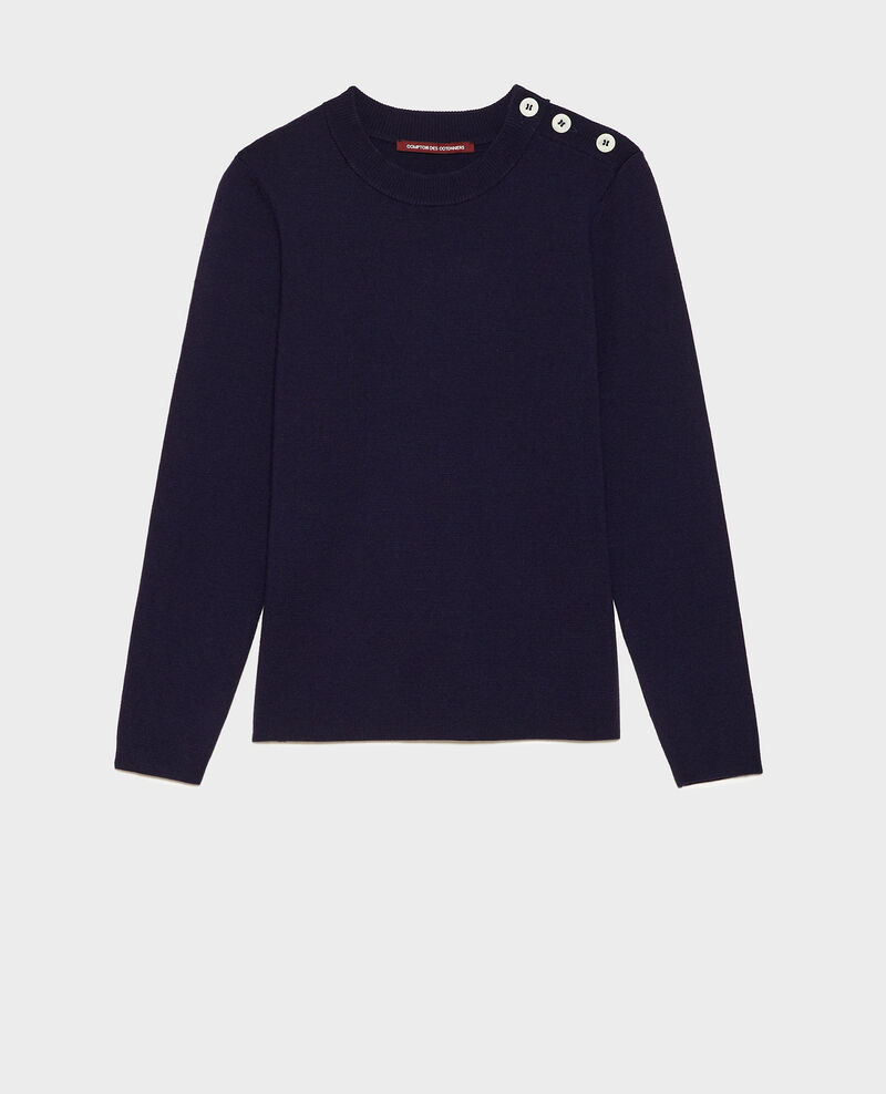 Classic wool jumper Maritime blue Logan