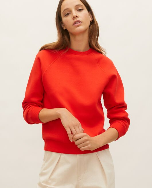 Fleece sweatshirt FIERY RED