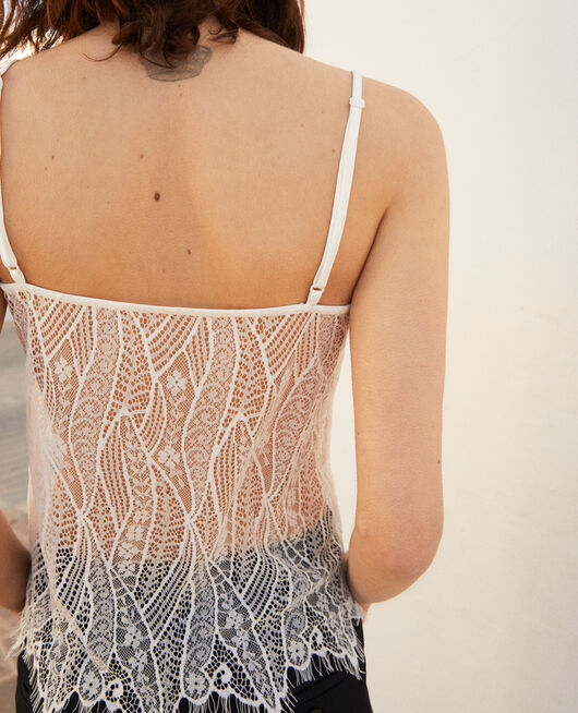 Lace cami OFF WHITE