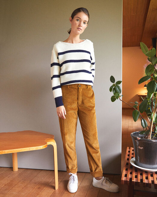 Ribbed corduroy trousers GOLDEN BROWN