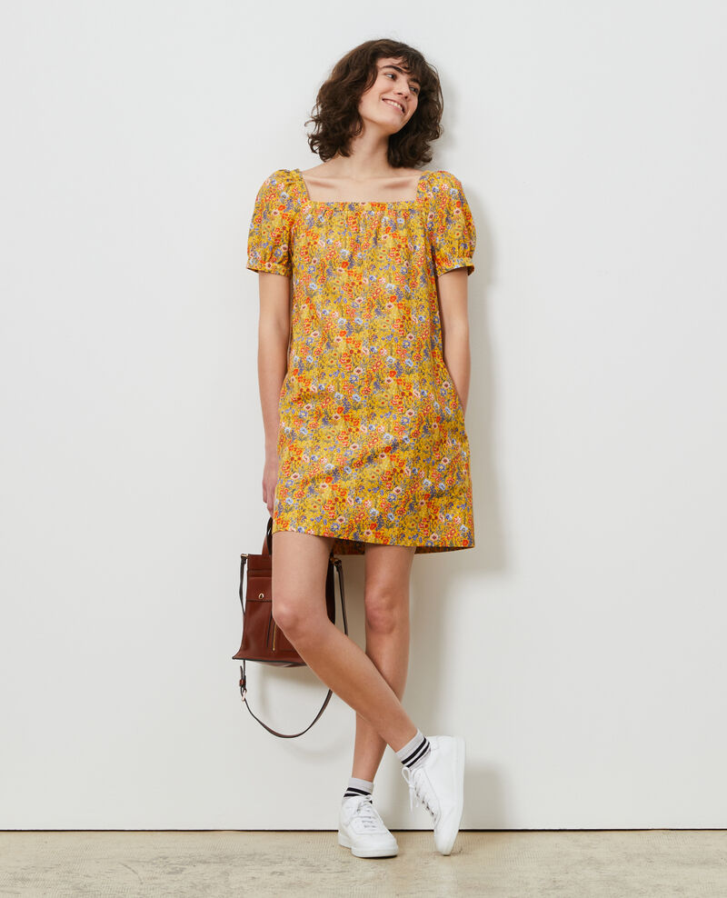 Short cotton and silk dress Prairie spectra Neffa