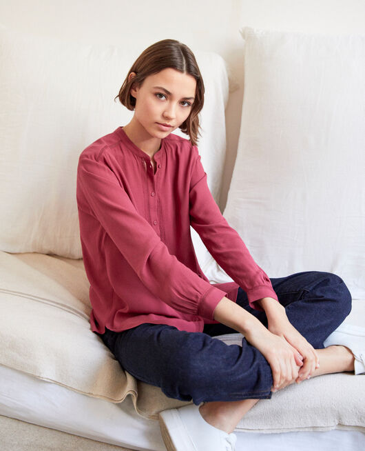 Straight-cut tunic EARTH RED