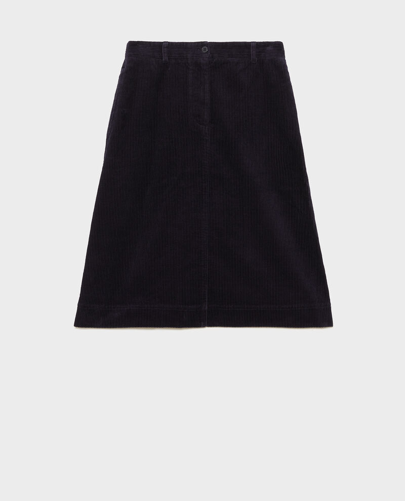 Corduroy A-line skirt Night sky Meyzieu