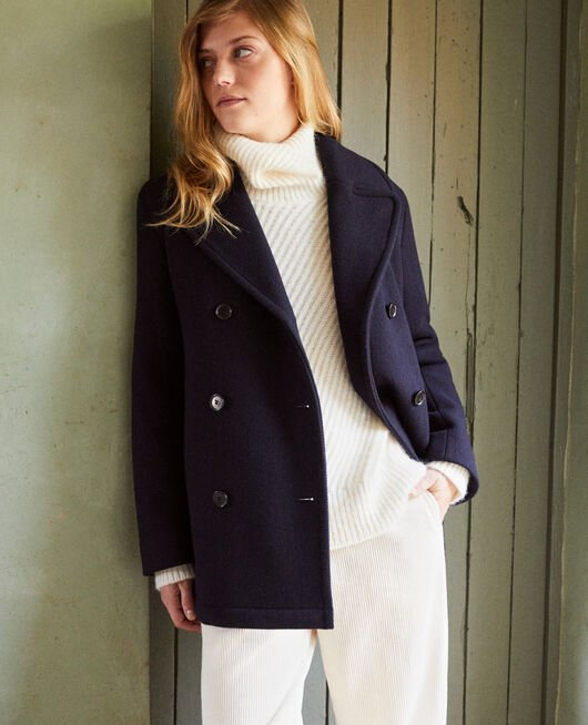 Double-breasted pea coat DARK NAVY