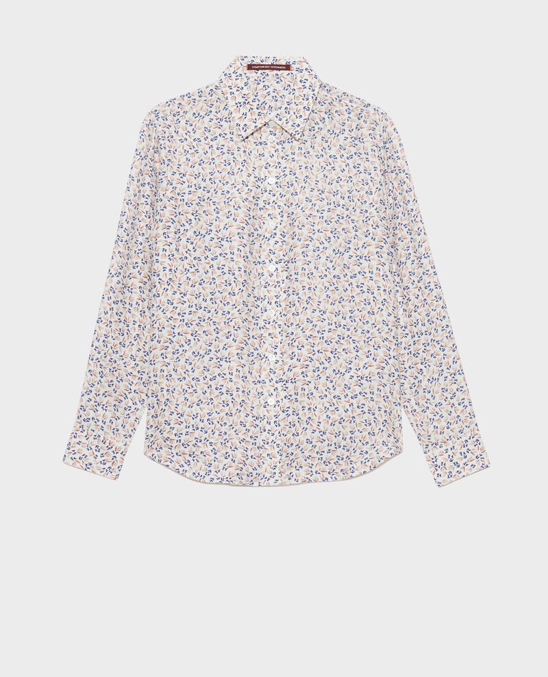 SIBYLLE - Printed silk shirt Clochette spicy Nabilo