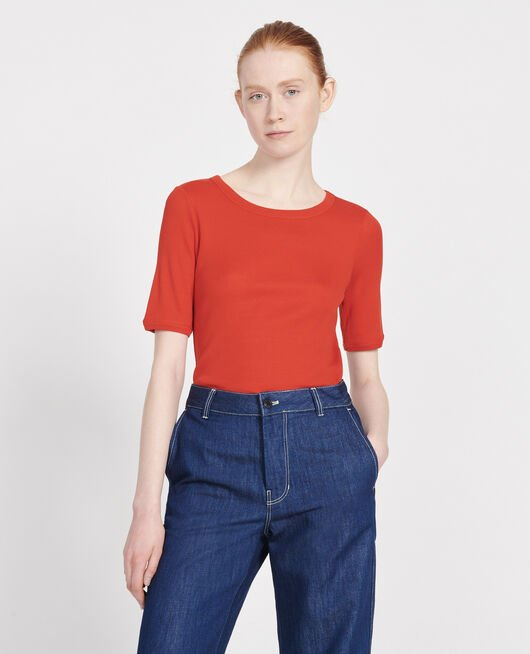 Cotton T-shirt FIERY RED