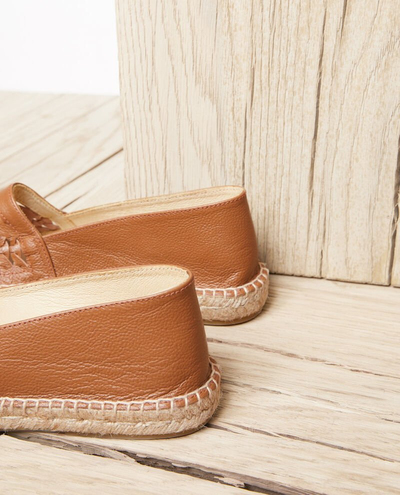 Leather espadrilles Camel Ispadrille