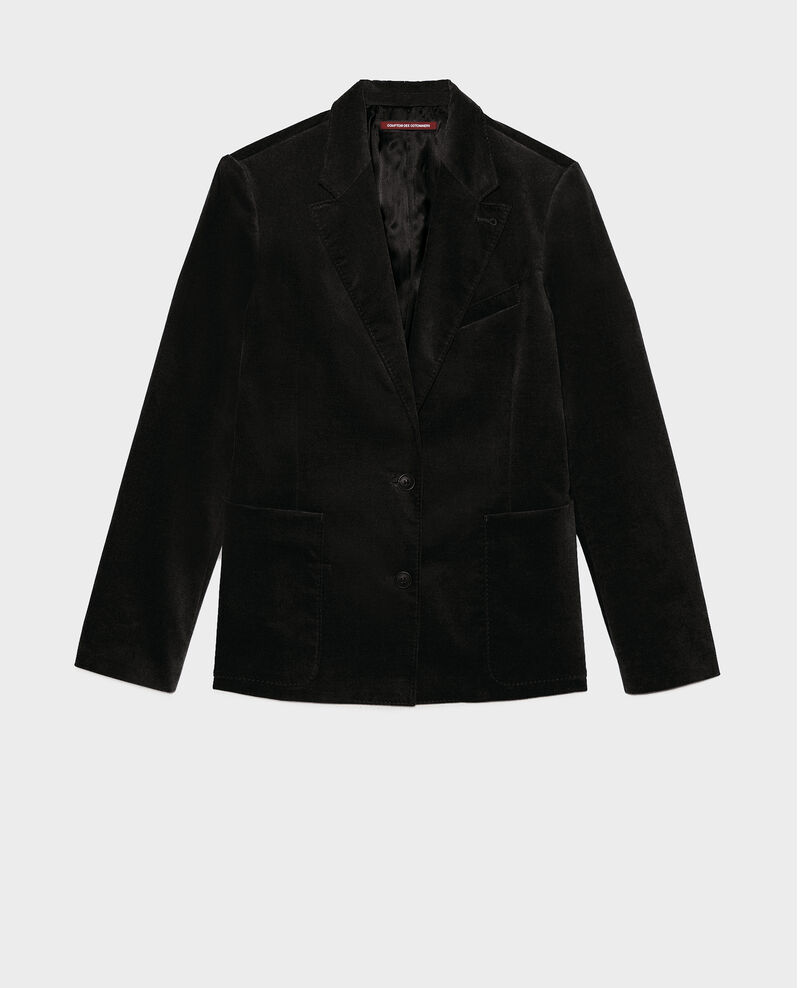 Two button corduroy blazer Black beauty Muscade