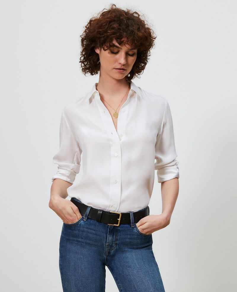 SIBYLLE - Silk shirt Optical white Loriges