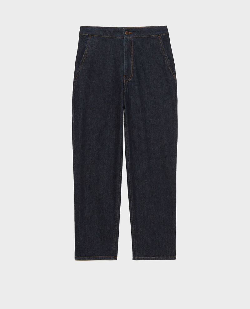 CHINO - High-waisted denim carrot pants Denim rinse Muzol