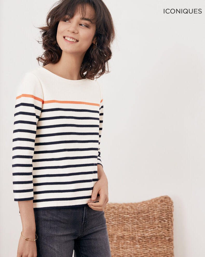 Striped T-shirt Kaolin/navy Faustus