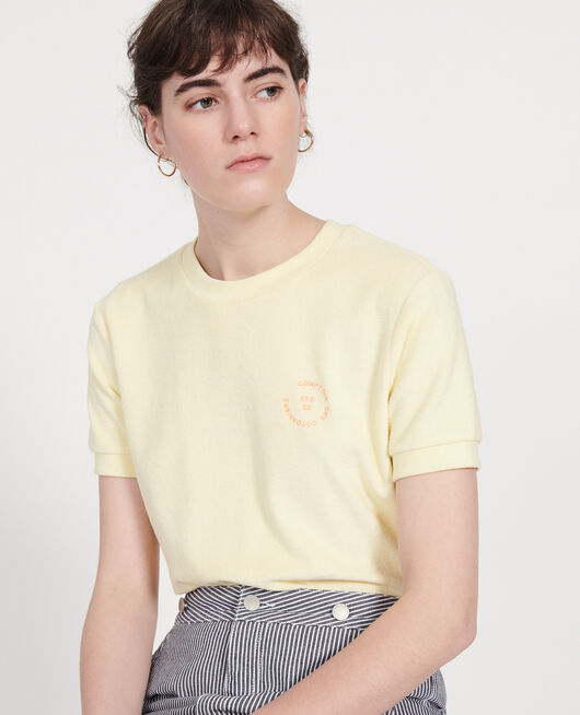 Cotton T-shirt TENDER YELLOW