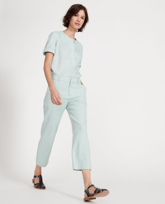 Linen trousers BLUE HAZE