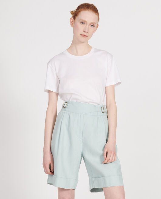 Linen shorts  BLUE HAZE