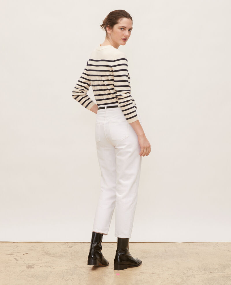 TOMBOY - High-waisted 5 pocket wide jeans Winter white Meroni