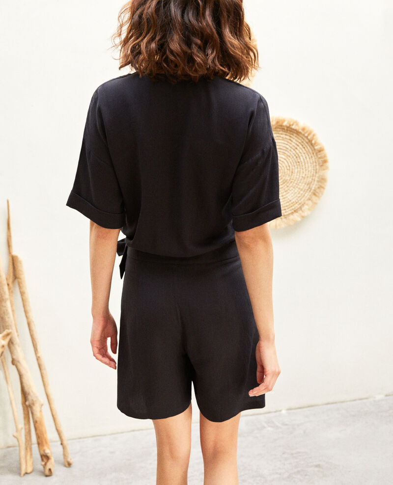 Wrap-over playsuit Noir Issife
