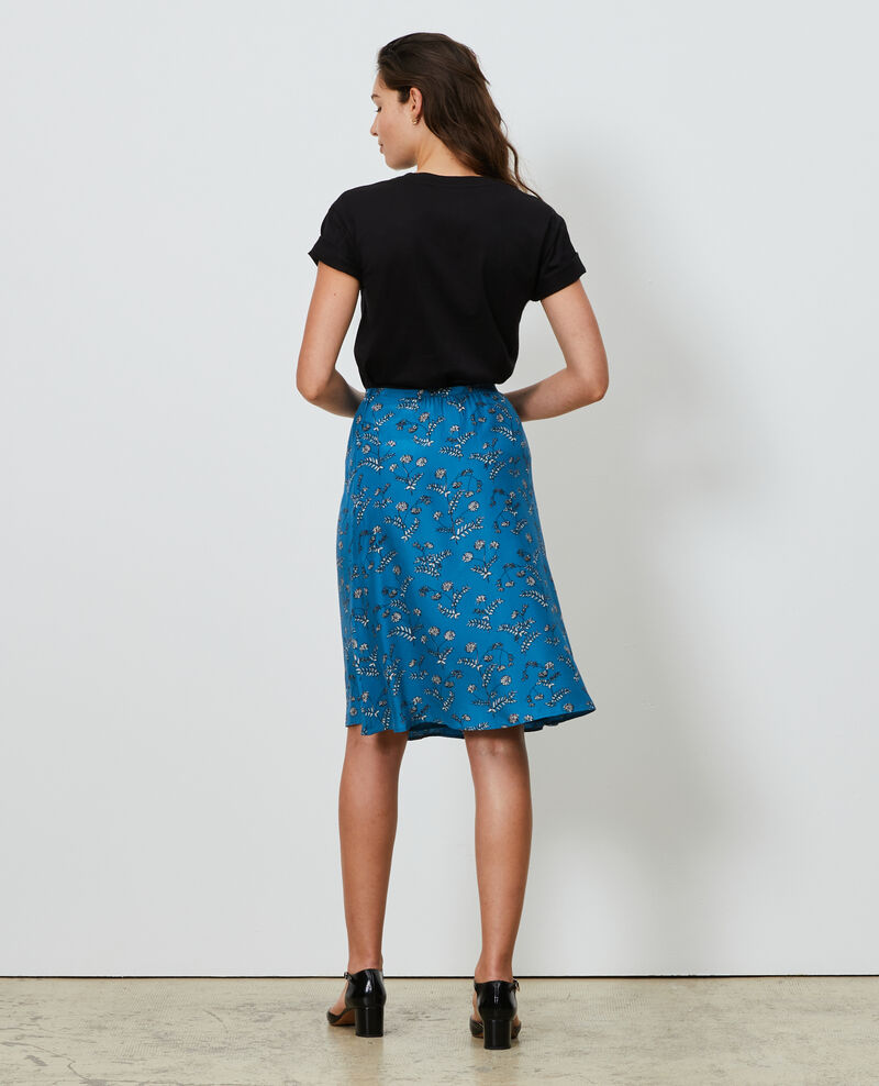 Silk high-waisted skirt Coronille faience Noimise
