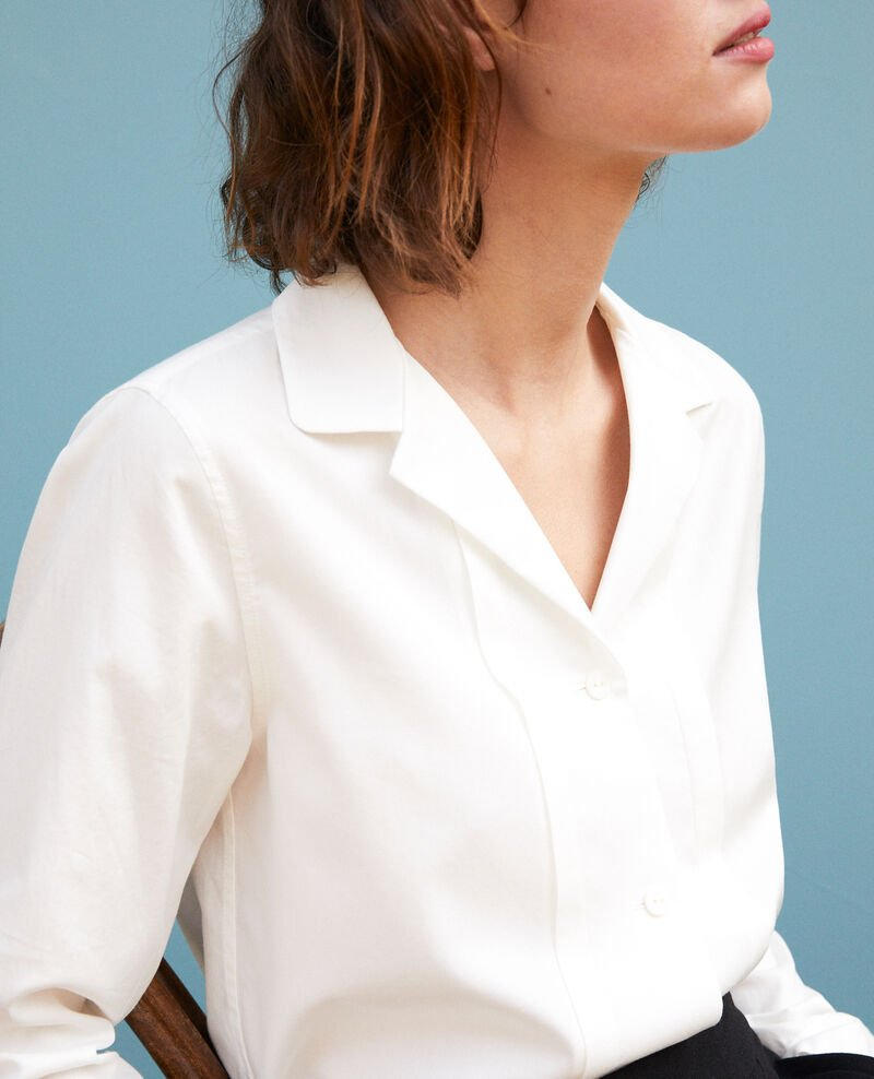 High collar shirt White Goja