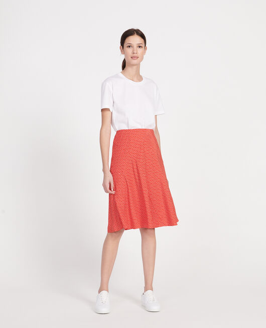 Silk skirt MEMPHIS FIERY RED