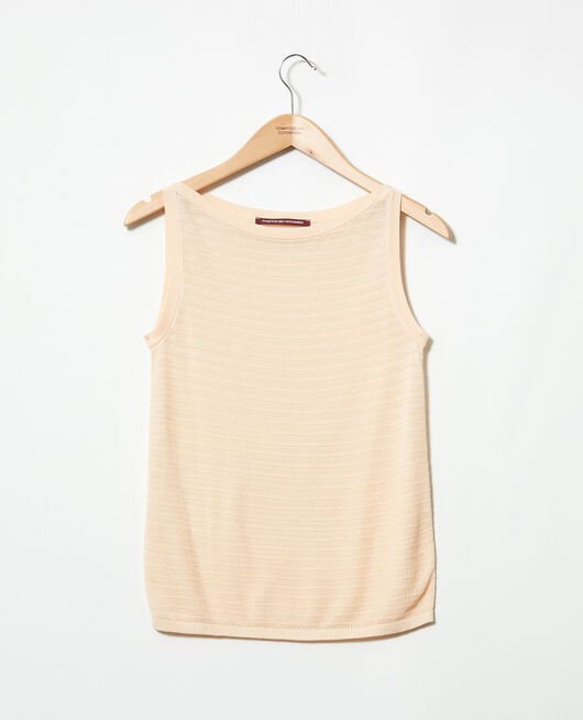 Novelty knit vest LIGHT PINK