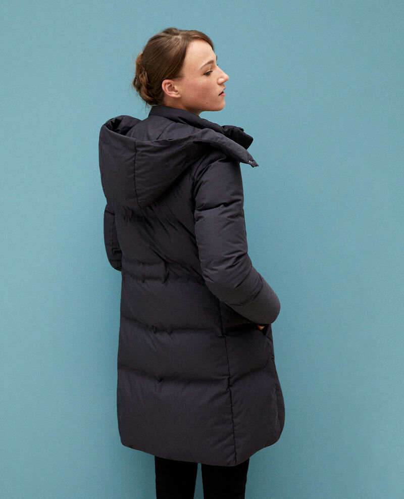 Large feather and down jacket Black Galin