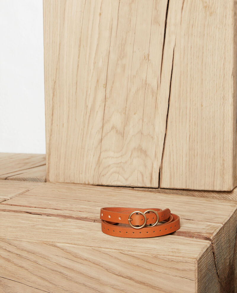 Leather belt Camel Jistud