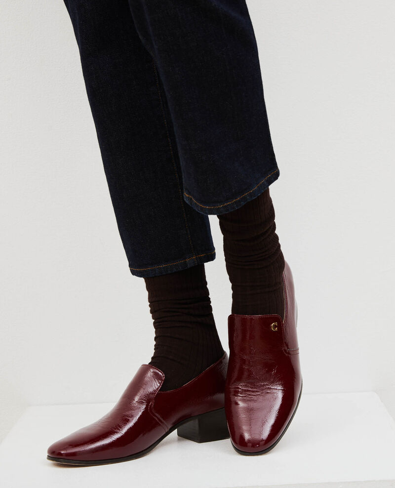 Leather moccasins Royale red Meaux