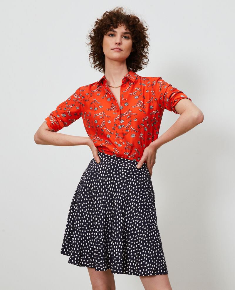 Printed silk shirt Coronille spicy Nabilo