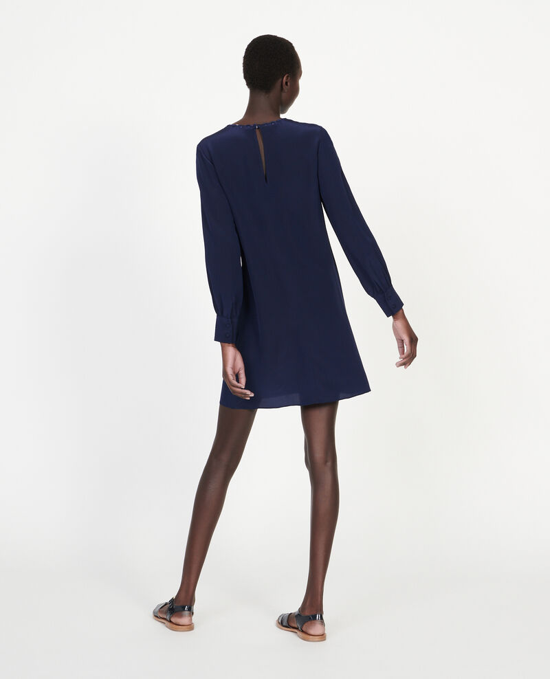 Silk dress Maritime blue Lamax