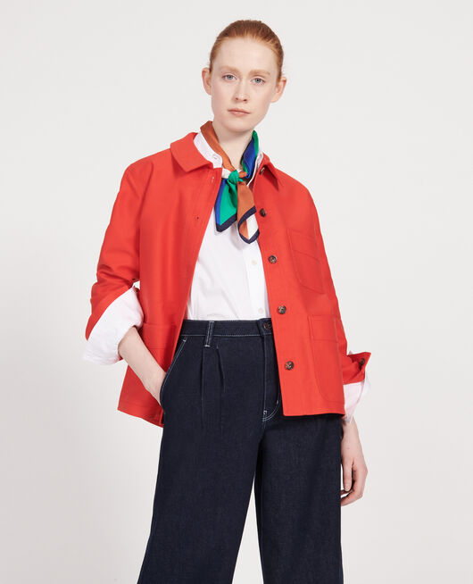 Cotton jacket FIERY RED