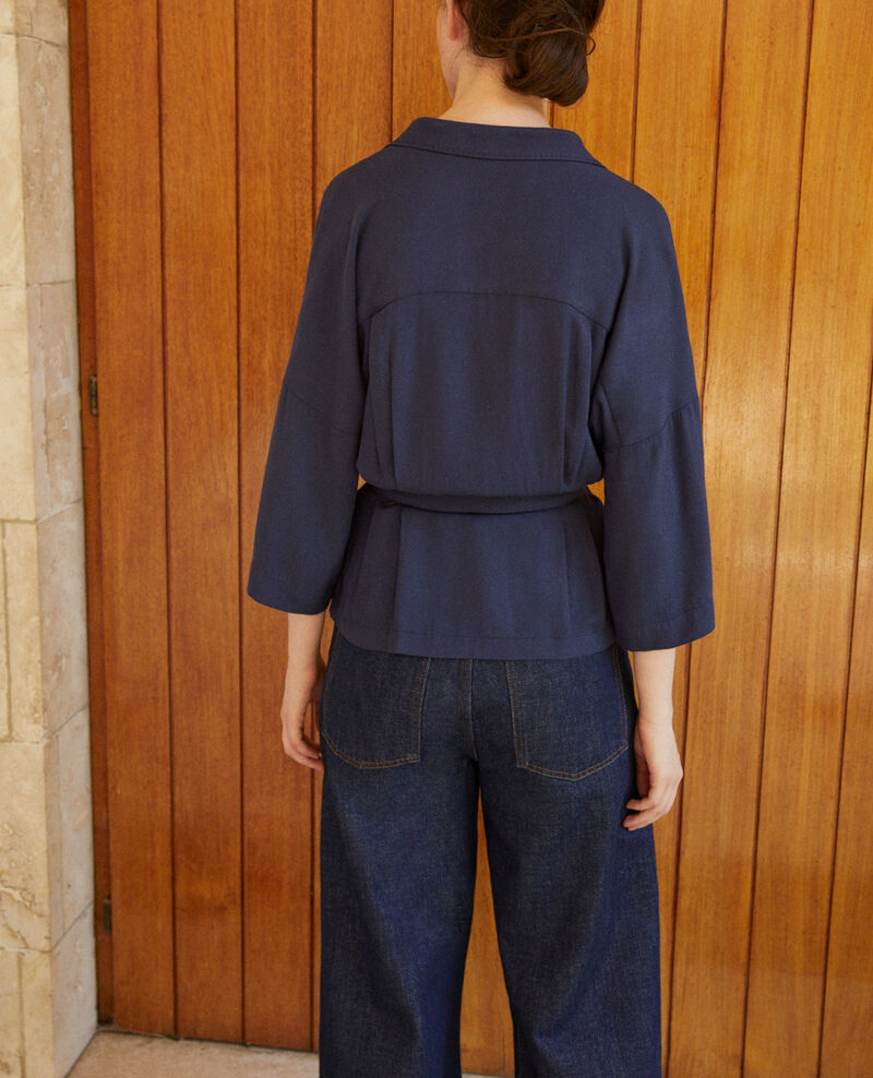 Wrap blouse Blue Guidell