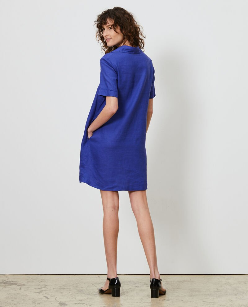 Linen tunic dress Royal blue Noailles