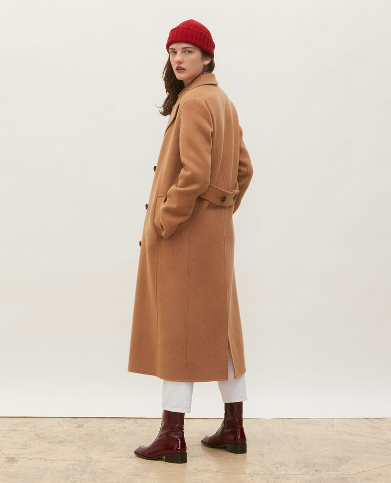 Double-sided wool and cashmere overcoat Latte Minard