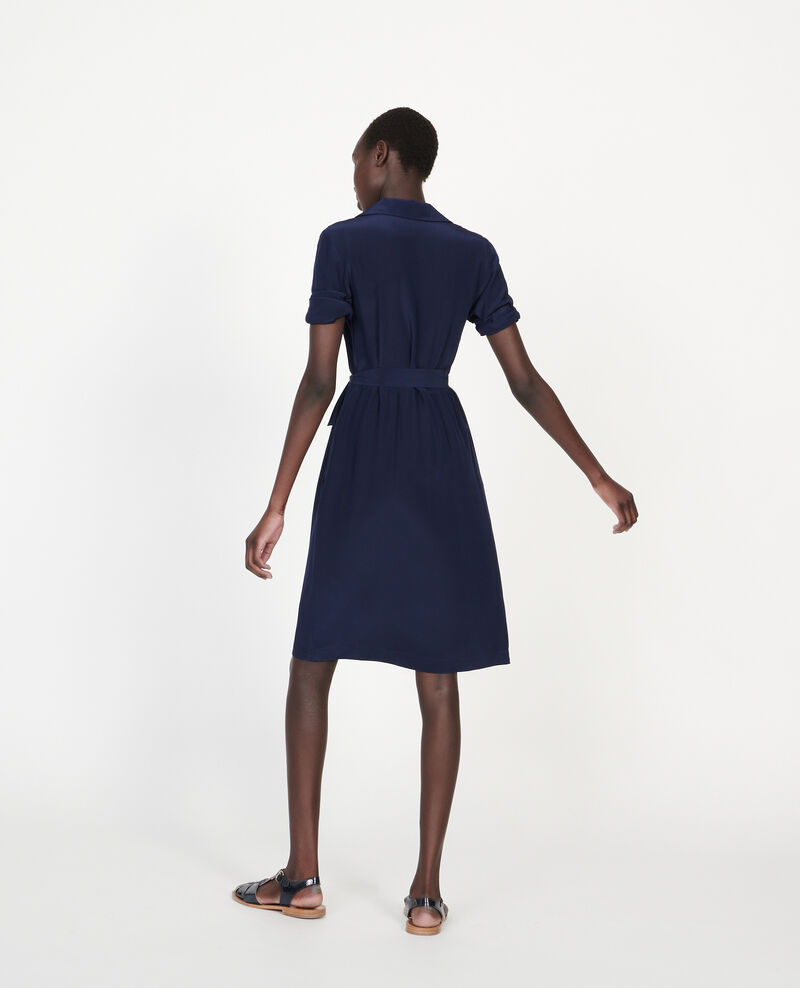 Loose midi dress Maritime blue Lolita