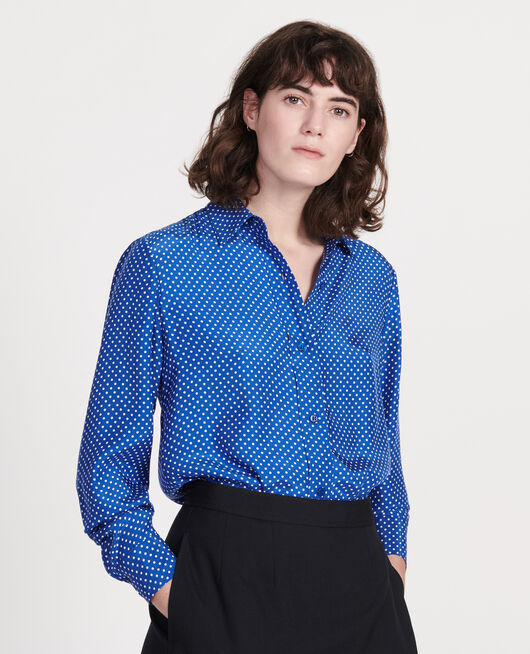 Silk polka dot shirt LITTLE POIS SURF THE WEB
