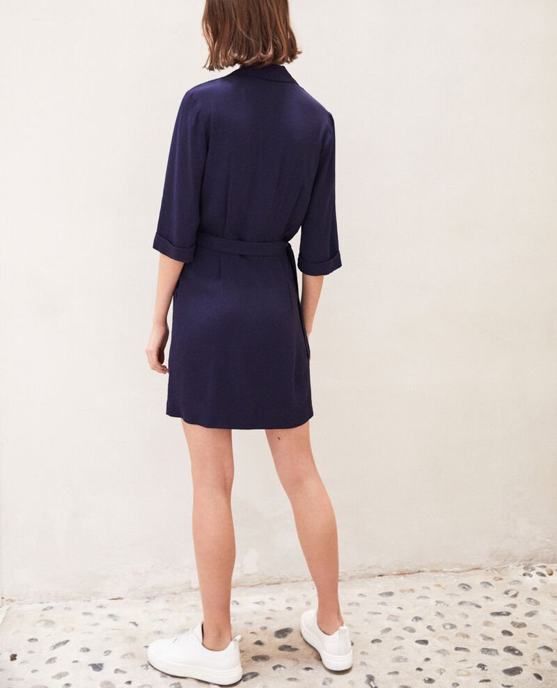 Wrap dress Bleu marine Gideen