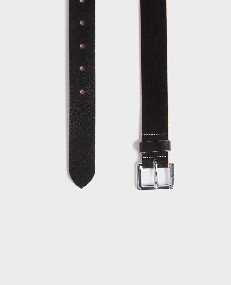 Classic leather belt Black beauty Noyau