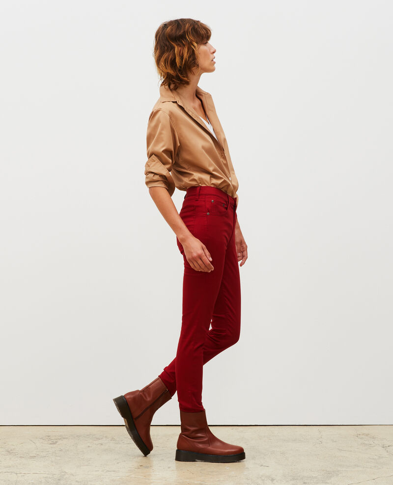 SKINNY - 5 pocket jeans Royale red Mozakiny
