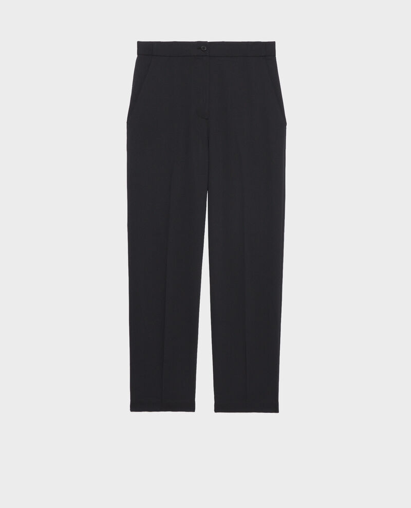Elasticated 7/8 trousers Black beauty Napoli