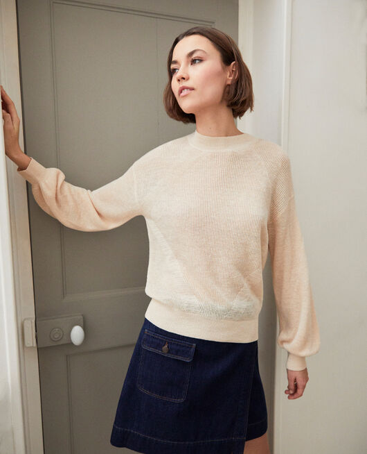 Turtleneck jumper NATURAL BEIGE