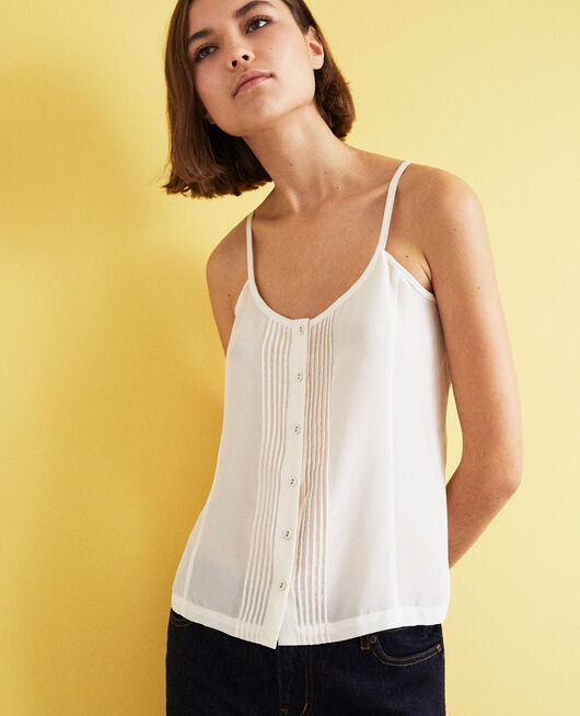 Silk blend cami OFF WHITE